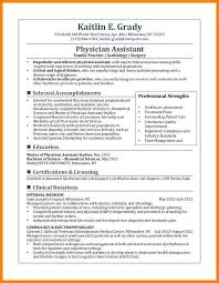 7 Physician Assistant Resume Sample Address Example