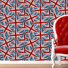 Jack Flag Wallpaper from All Things British wall coverings and murals  collection by ATADesigns.