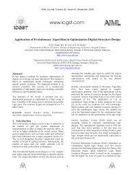 Logical Design Definition Pdf Application Of Evolutionary Algorithm In Optimization