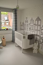 Kinderbehang Amsterdam Grachtenpandjes In Tinten Grijs