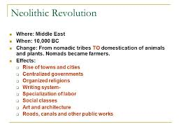 revolutions global history and geography regents review ppt 2 neolithic revolution