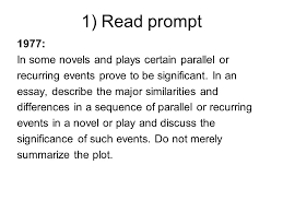 model for essay writing ppt  1 prompt 1977 in some novels and plays certain parallel or