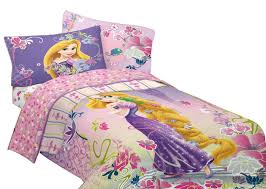3pc disney tangled twin bed sheet set princess rapunzel magic flowers bedding com