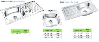 kitchen sink dimensions. Enchanting Kitchen Sink Size Click To View Full Photo Standard Sizes Australia Dimensions K