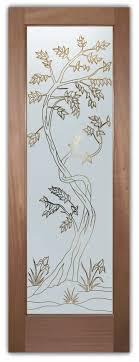 etched glass door sapling