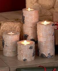 Tea Light Candle Fireplace Log Tea Light Candle Fireplace Logs Rustic Faux Wood Stumps