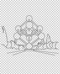 Atomium Wallonia Expo 58 Kleurplaat Drawing Png Clipart 27 Mai