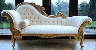 antique chaise lounge chairs. Antique Chaise Lounge Chair With Tufted Back And Posh Gold Carving Frame For Bedroom, 17 Chairs