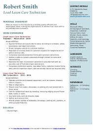 Lawn Care Technician Resume Sles Qwikresume Www Uxaxa Org