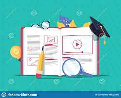 Learning Web Design Vector Creative Illustration Online E Learning Distance