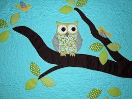 11 best Owl Quilt Ideas for Ava images on Pinterest | Owl quilts ... & Applique Owl Quilt Adamdwight.com