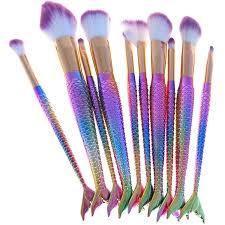 makeup brush mermaid set