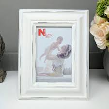 white distressed wooden simple frame