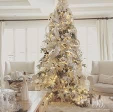 Elegant White Christmas tree with mercury glass ornaments
