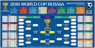 World Cup Planner Chart 2018 Clearance 2018 World Cup Russia Ready To Stick Poster Russia World Cup 2018 Ready To Display Russia Game Wallchart Comes With Tape For Easy Poster