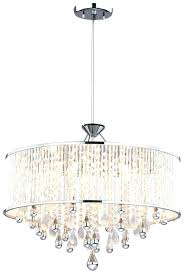 drum chandelier with crystals chrome drum chandelier crystal