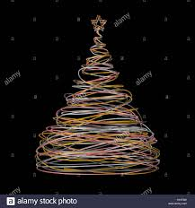 Gold Wire Christmas Tree Lights Christmas Tree Made Of Gold White Grey And Pink Wire On