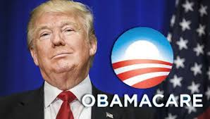 Image result for trump + obamacare