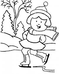 Winter Coloring Pages For Girls Coloringstar