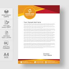 Abstract Creative Vector Letterhead Free Download Wisxi Com