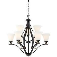minka lavery shadowglen 9 light lathan bronze chandelier