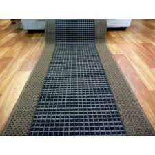 flatweave hallway runner 67cm wide sunrise black brown by the meter