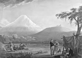 alexander von humboldt and the botanist aimé bonpland at the foot of the chimborazo volcano in ecuador credit painting by friedrich georg weitsch 1810