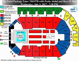 Call Center Seating Chart Top Ticket Prices For New Kids On The Block At Allentowns