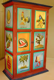 painted mexican furniturehand painted cabinets mexican armoires  media cabinets storage