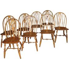 english windsor bowbrace back dining chairs with decorative splat