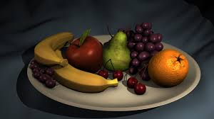 lighting a bowl. Fruit Bowl Ambient Occlusion Composite Lighting A