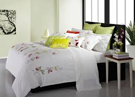 maholi spring meadow embroidered duvet cover set king the home depot canada