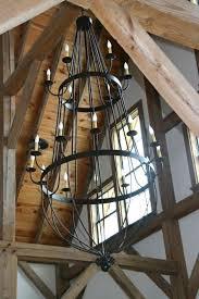 chandelier lighting vaulted ceiling faux wood beam chandelier
