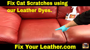 How to FIX CAT SCRATCHES on a LEATHER couch