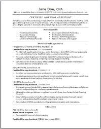 Cna Resume Examples With No Experience Examples Of Resumes