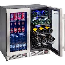 quiet beer wine bar fridge yc100 combo 4