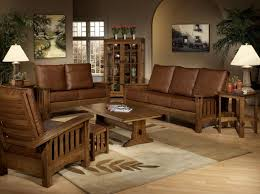 Mission Style Living Room Set Mission Sofa Leather Cushions Best Sofa Ideas