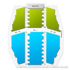 Je Broyhill Civic Center Seating Chart J E Broyhill Civic Center Of Caldwell Community College