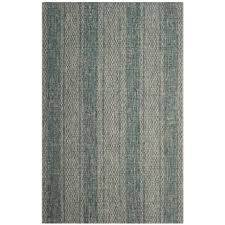 safavieh courtyard collection striped indoor outdoor area rug 5 3 x7
