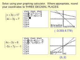 solve using your graphing calculator