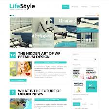 Artist Website Templates Enchanting LifeStyle HTML Template Blog Style Website Templates