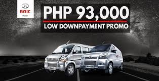 pay as low as p93 600 for a new baic