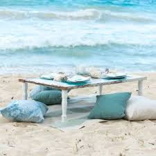 beach shabby chic furniture. beach wedding vintage table seashell shabby chic furniture