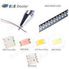 Details About 0402 0603 0805 1206 Smd Pre Soldered Micro Led White Red Blue Diodes 20cm Line