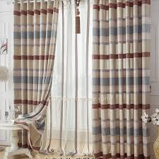 dreamy patterned burlap print baby blue polyester flip flop window curtains