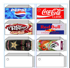 Printable Vending Machine Drink Labels
