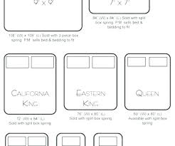 Queen Bed Dimension Us Sizes Chart King Size Dimensions Vs