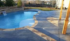 resurfacing concrete pool decks resurfaced roman texture slate concrete pool deck with borders diy concrete pool