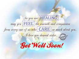 Get Well Soon Wishes For Sister Pictures Images