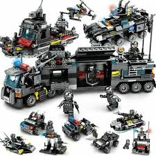 <b>8pcs</b>/<b>lot 695Pcs City</b> Police <b>SWAT</b> Truck Building Blocks Sets Ship ...